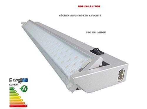 Spule Wasserkocher (Rolux LLH-208 LED Unterbauleuchte Küchenleuchte schwenkbar Aluminium 8 Watt 3.000K, 591mm)