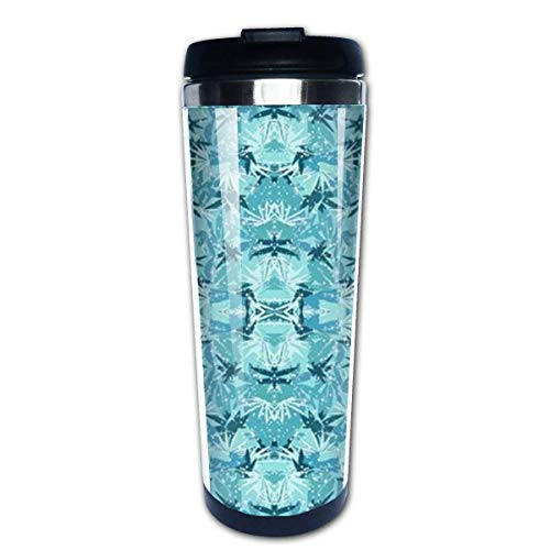 Sparkle Turquoise Camo Stainless Steel Coffee Tumbler Insulated Thermos Cup Travel Mug