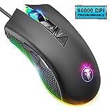 YockTec Mouse Gaming Ottico a Retroilluminati a RGB, 8 Pulsanti Programmabili Professionisti Mouse da Gioco Ergonomico, 10000 DPI, Compatibile con PC/Mac/Laptop