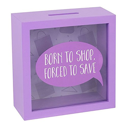 Jones Home and Gift Born To Shop Fund Money Box