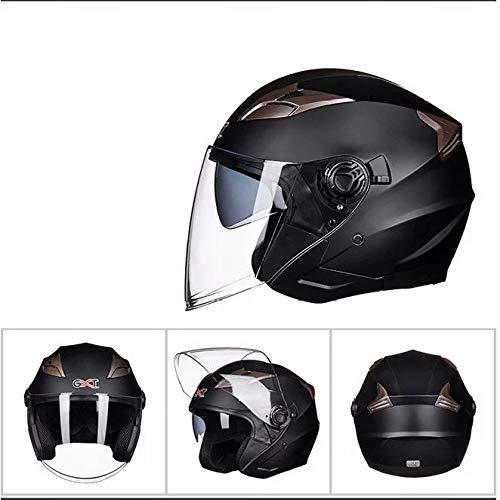 Mdsfe Casque Moto Hommes et Femmes Casque Demi Casque électrique Double lentille Peut être installé Bluetooth Casque de Moto coolcasque aviateur