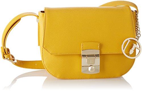 Trussardi Jeans Levanto Ecosaffiano Hunting Small Bag, Sacs bandoulière femme, Jaune (Yellow), 23x16x10 cm (W x H L)