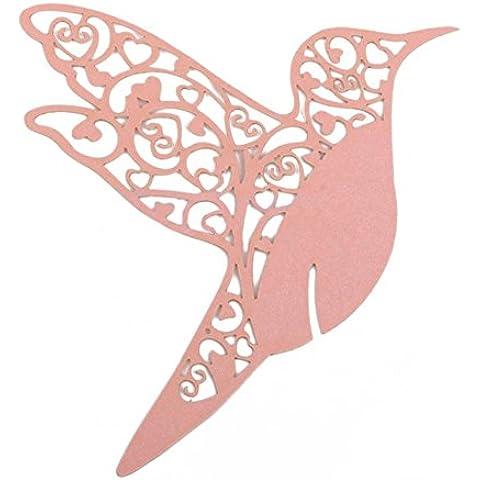 Tarjetas de Copa Decorativa de Papel Etiquetas Diseño de la Pájaro Roso Para Festival Boda