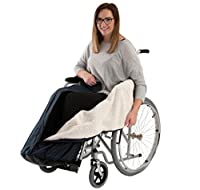 Drive Medical Navy Blue Waterproof Wheelchair Cosy with Thick Fleece Lining