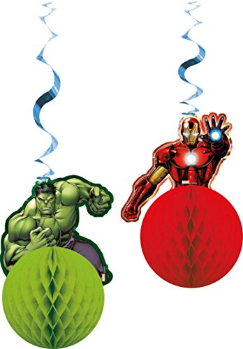 Marvel Avengers Assemble Tissue Honeycomb Ball Party Dekorationen, 2 Stück