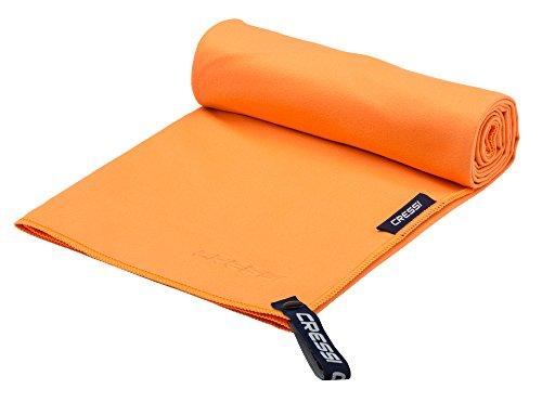 Cressi Microfibre Fast Drying Toalla de Sport, Unisex Adulto, Naranja, 30x50cm