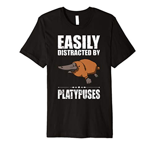 Easily Distracted By Platypuses Schnabeltier Gift T Shirt -