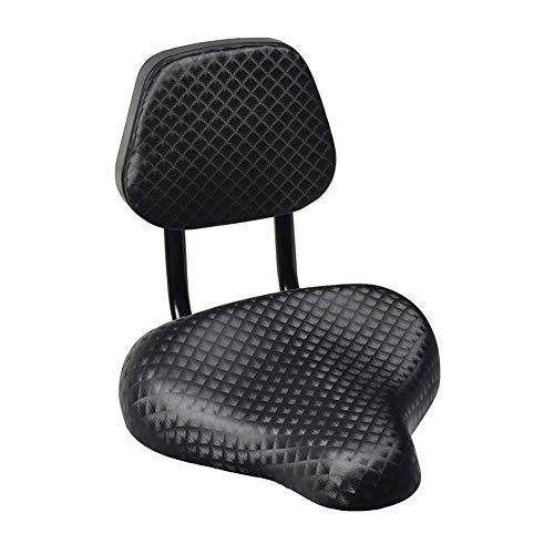 KingbeefLIU Fahrradsattel, Radfahren Wide Comfort Kunstleder Fahrradsattel Sitz mit Rückenlehnenstütze,Fahrradzubehör