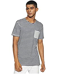 Indigo Nation Street Men's Striped Slim Fit T-Shirt