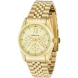 Orphelia - 82506 - Montre Femme - Quartz - Analogique - Bracelet Acier inoxydable doré