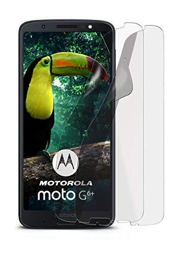 2X Motorola Moto G6 Plus | Schutzfolie Matt Bildschirm Schutz [Anti-Reflex] Screen Protector Fingerprint Handy-Folie Matte Bildschirmschutz-Folie für Motorola Moto G6 Plus Bildschirmfolie