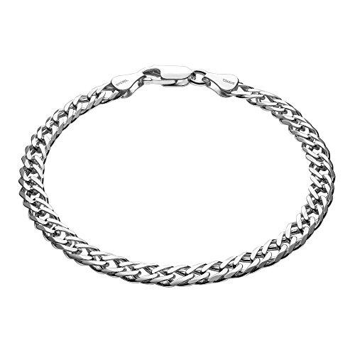 Imagen de sterll pulsera para hombre de plata 925, 21 cm de longitude, con caja de joyas, ideal como regalo de hombre