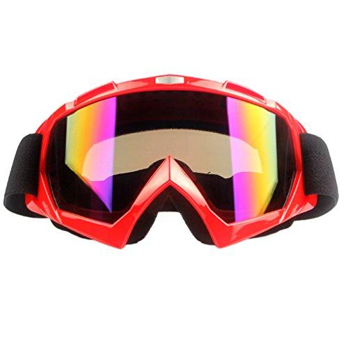 Dexinx Erwachsener Motorradfahren bequemer Breathable Tactical Brille Goggle Winddichtes Staubdicht Kratzfeste Anti-Schlag Skibrille Rot