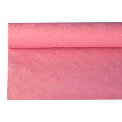 NEU Tischdecke rosa mit Damastprägung 8x1,2m