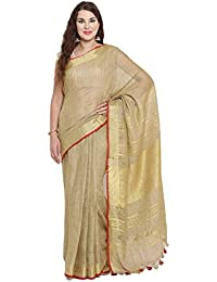 5fc88bc559 Women's Ethnic Saree Designer Golden Party Wrap Sari Un-Stiched Blouse  Piece Sari,5.6