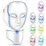LED Masque Visage Anti-Rides Anti-Acné Rajeunissement de la Peau Machine 7 Lumières de Couleur Facial Salon Soins de la Peau Outils FDA Approuvé(#2)