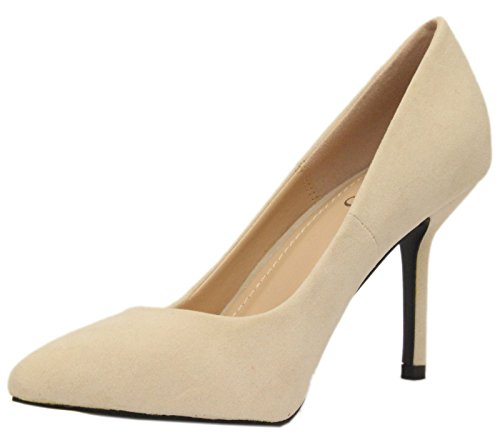 Saute Styles , Escarpins pour femme beige - Beige - NUDE BEIGE NUDE SUEDE