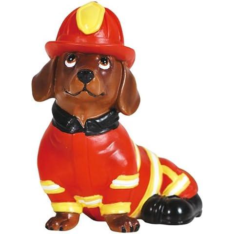 Firefighter Smoke Jumper Fireman Doxie-Statuetta a forma di cane bassotto, 7,62 cm (3
