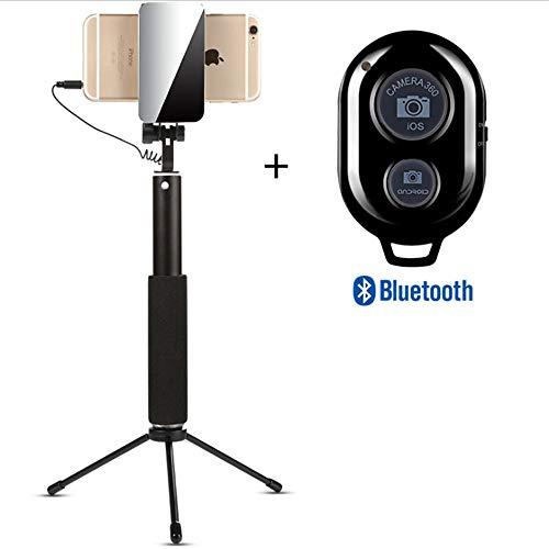 ZMXZMQ Professionelles High-end-Selfie-stativ Od Für iPhone, Android-Telefon, Abnehmbare Drahtlose Bluetooth-Fernbedienung (Schwarz, Gold, Rose,Blake