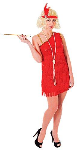 Bristol Novelty AC184 Flapper Kleid, Rubinrot, Size 10-14 - 20 S Flapper Kleid