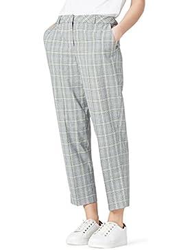 FIND Pantalones de Cuadros Mujer