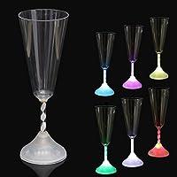 Bluelover LED colorato vino vetro Coppa luce bagliore Cocktail calice tazza partitoBar