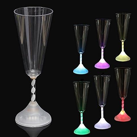 Bluelover LED colores vino vidrio Copa luz resplandor Copa taza partido coctelería
