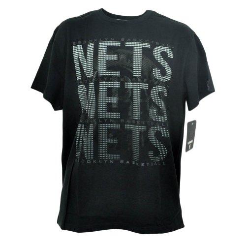 Brooklyn Nets T-Shirt Pinpoint Schwarz - Schwarz - Groß (Brooklyn Nets-t-shirt)