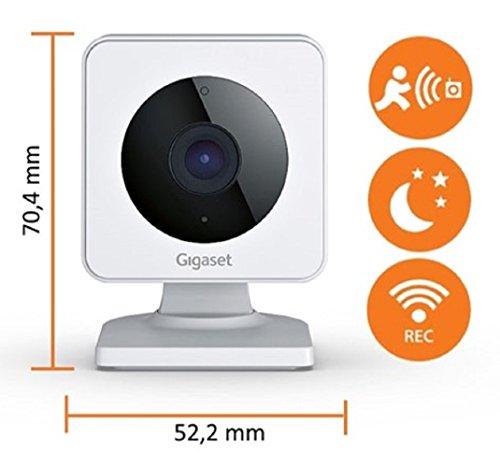 Gigaset smart camera – Sicherheitskamera - Wlan-Kamera Stand-alone / kompatibel mit elements alarm system / Alarm Kamera - mit App Steuerung - Weiß
