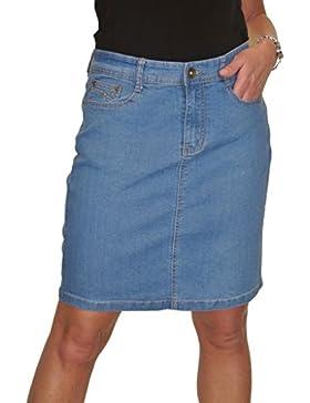 ICE (2550 Denim por Encima de la Rodilla Jeans Falda Azul 36-48