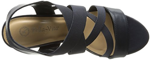 Bella Vita Leeza II étroit Synthétique Sandales Nvy-Stretch