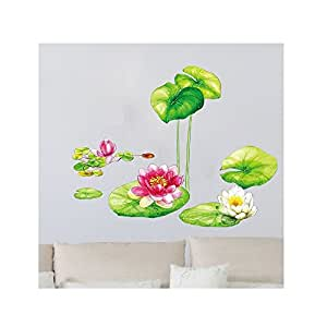 UberLyfe Lotus Flowers Size 4 (Wall Covering Area: 130cm x 100cm) - WS-1144