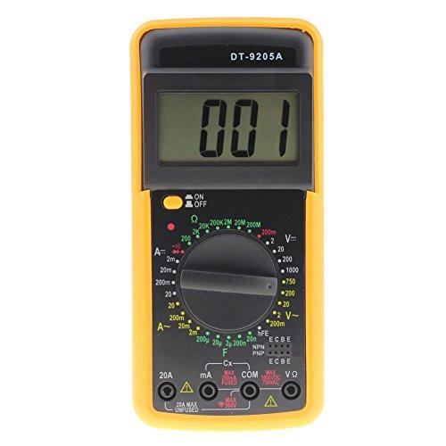prettygood7 Multimeter Digital DT-9205A Multimeter LCD AC/DC Amperemeter Widerstand Kapazität Tester
