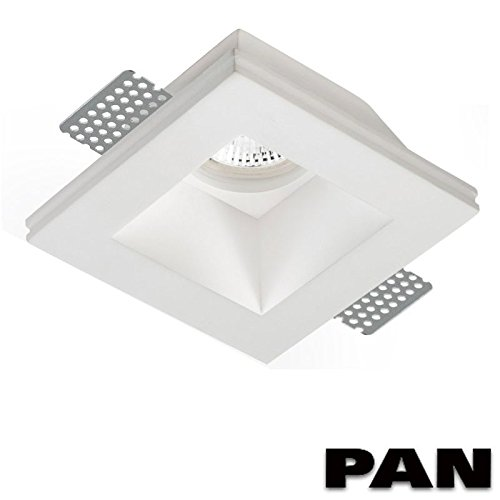 PAN Foco empotrable en escayola, INC1501, se puede pintar, GU10LED