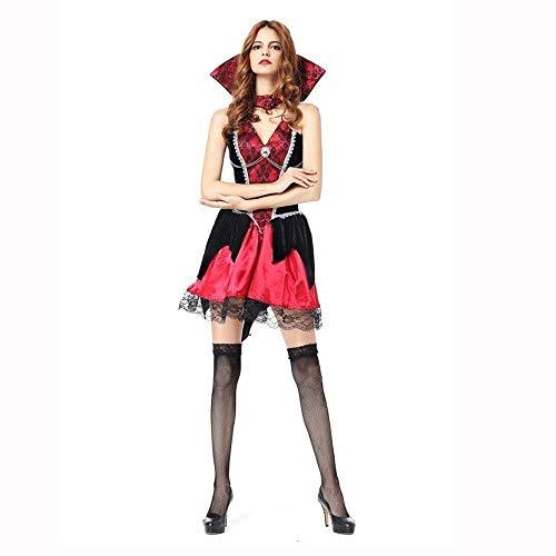 Fashion-Cos1 Halloween böse Hexe Kostüme weibliche gotische Zauberin beängstigend Cosplay Karneval Maskerade Party Kleid Vampire Queen Kleid