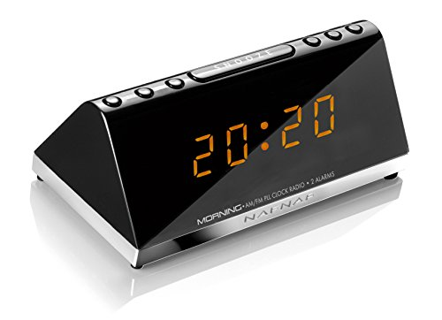 Sunstech MORNINGV2 - Radio despertador (AM/FM, digital, alarma x 2, función Snooze)