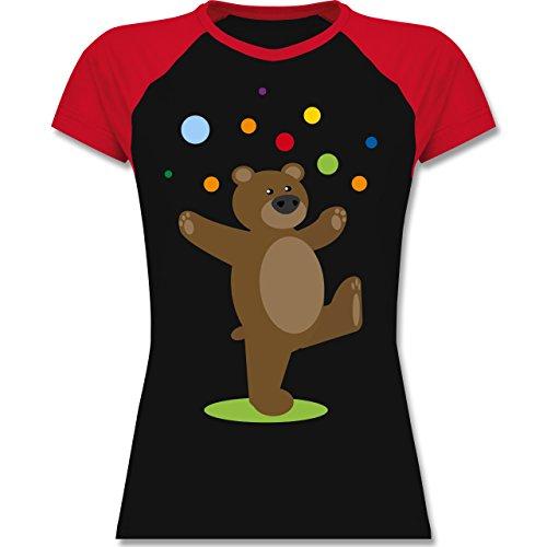 Sonstige Tiere - Kinder-Motiv Bär - zweifarbiges Baseballshirt / Raglan T- Shirt für