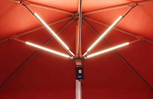 Lume 1 touch 4er Set Akku Sonnenschirmbeleuchtung inkl. Powerbank