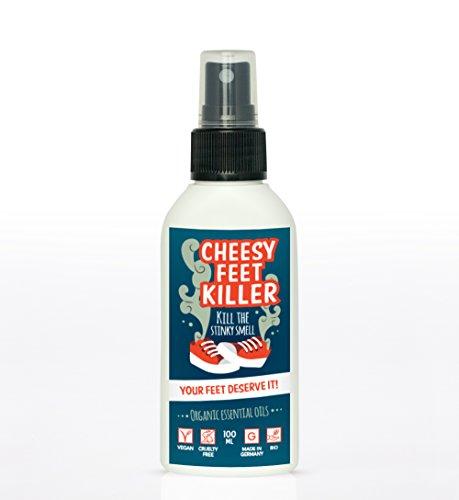 Schuh Deo Spray Geruchsstop von Cheesy Feet Killer | Antibakterielle Schuh Desinfektion | BIO Fuss Deo mit Lavendelduft | 100% natürliches Schuhspray gegen Geruch