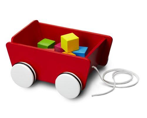 Imagen principal de Micki 10.2131.00  - Carrito con ruedas y correa de madera color rojo