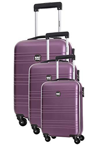 Set 3 valigie 4 ruote S/M/L viola Summer
