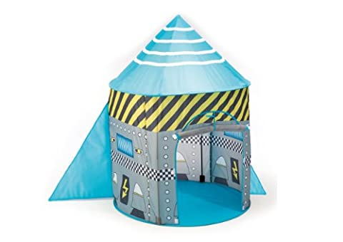 Childrens Rocket / Spaceship Pop Up Tent - Boys Toy Play Tent (With Poles) Playhouse / Den