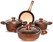Granite Cookware 7Pcs Set, Brown