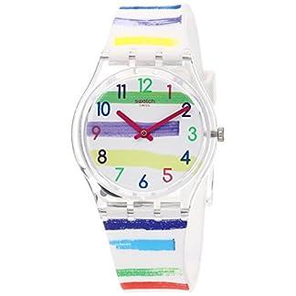 Swatch Reloj Analógico para Mujer de Cuarzo con Correa en Silicona GE254
