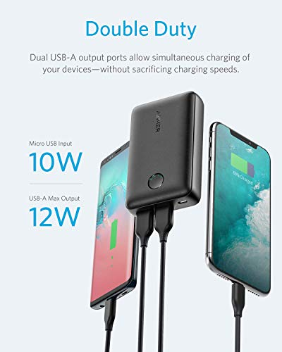 Anker PowerCore Select 10000, 10000mAh Portable Charger with 2 USB-A Ports, Light and Portable Power Financial institution, Power IQ 1.0 12W External Battery with Multi Protect and Voltage Boost Image 3