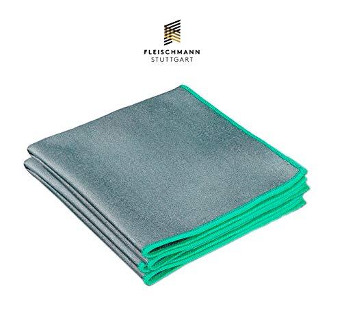 Fleischmann Mikrofasertuch I Reinigungstuch für PKW & Haushalt I Poliertuch, Trockentuch, Fenstertuch und Staubtuch in Einem I All In One Grau I 40 x 40 cm 2 STK -