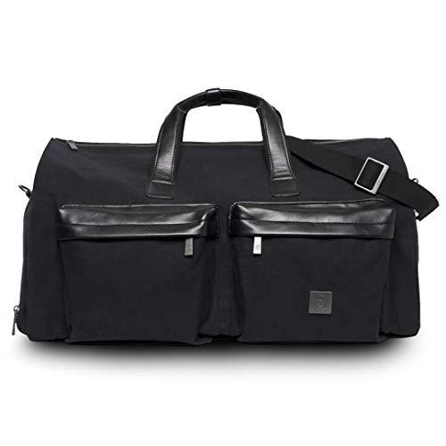 James Hawk Suit Weekender Tasche Hochwertige Garment Reisetasche für Anzug & Hemd | Premium Geschenk für Herren | Canvas Handgepäck und Kleidersack mit Schuhfach