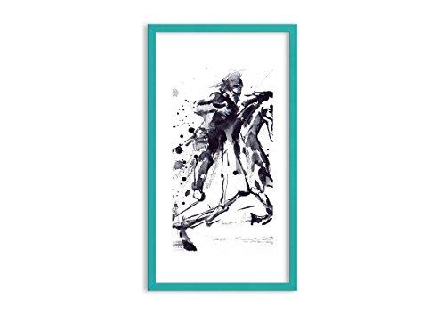 Bild im blauen Holzrahmen - Bild im Rahmen - Bild auf Leinwand - Leinwandbilder - Breite: 45cm, Höhe: 80cm - Bildnummer 2985 - zum Aufhängen bereit - Bilder - Kunstdruck - F1CPA45x80-2985