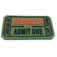 Parche de PVC Valhalla Airsoft Paintball, verde, 75mm x 40mm