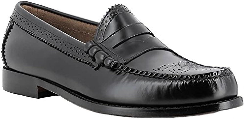 G.H. Bass & Co. Mens Weejuns Larson Brogue Black Leather Shoes 44.5 EU